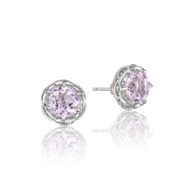 Tacori Sterling Silver Crescent Crown Gemstone Stud Earring