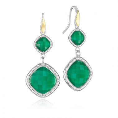 Tacori Sterling Silver Crescent Embrace Gemstone Drop Earring
