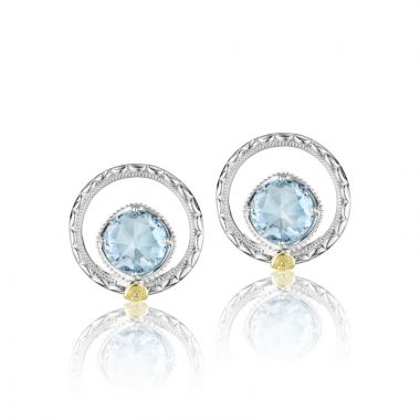 Tacori Sterling Silver Gemma Bloom Gemstone Stud Earring