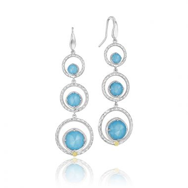Tacori Sterling Silver Gemma Bloom Gemstone Drop Earring