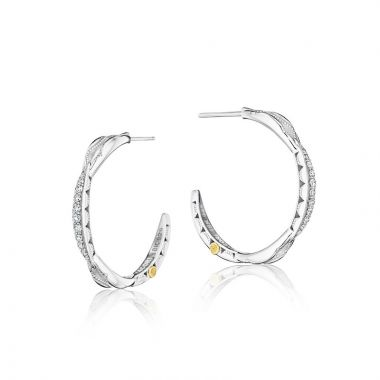 Tacori Sterling Silver The Ivy Lane Diamond Hoop Earring