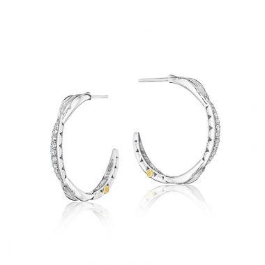 Tacori Sterling Silver The Ivy Lane Diamond Hoop Earring