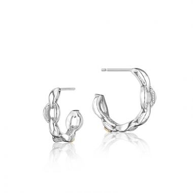 Tacori Sterling Silver The Ivy Lane Hoop Earring