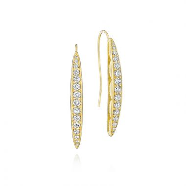 Tacori 18k Yellow Gold The Ivy Lane Diamond Drop Earring
