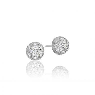 Tacori Sterling Silver Sonoma Mist Diamond Stud Earring