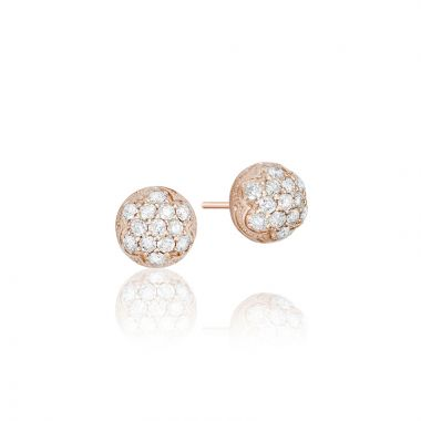 Tacori 18k Rose Gold Sonoma Mist Diamond Stud Earring