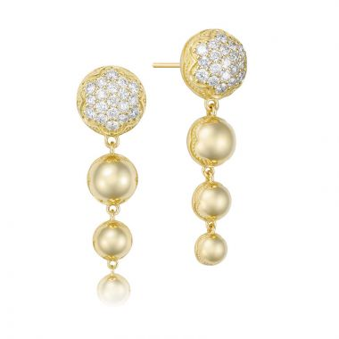 Tacori 18k Yellow Gold Sonoma Mist Diamond Drop Earring