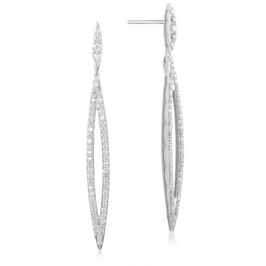 Tacori Sterling Silver The Ivy Lane Diamond Drop Earring