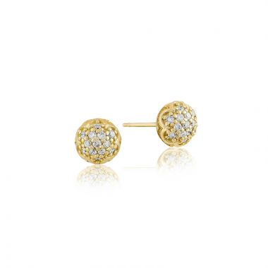 Tacori 18k Yellow Gold Sonoma Mist Diamond Stud Earring