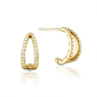 Tacori 18k Yellow Gold The Ivy Lane Diamond Stud Earring