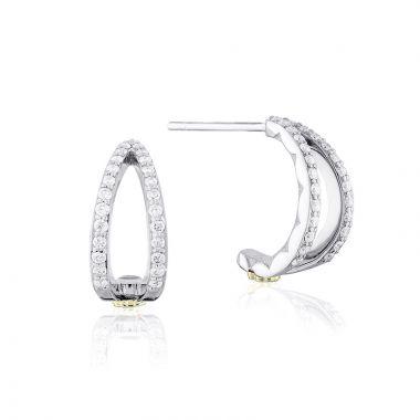 Tacori Sterling Silver The Ivy Lane Diamond Stud Earring