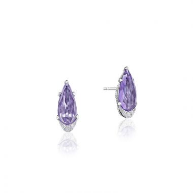 Tacori Sterling Silver Horizon Shine Gemstone Stud Earring