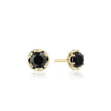 Tacori 14k Yellow Gold Crescent Crown Gemstone Stud Earring