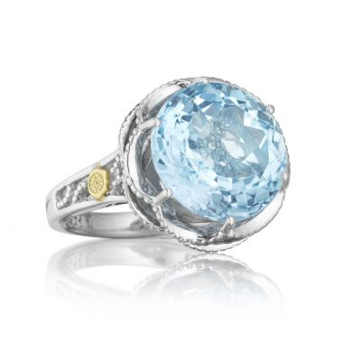 Tacori Sterling Silver Crescent Crown Gemstone Women's Ring