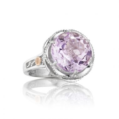 Tacori Sterling Silver Crescent Crown Gemstone Women's Ring