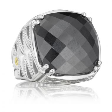 Tacori Sterling Silver Caissa Crescent Gemstone Women's Ring