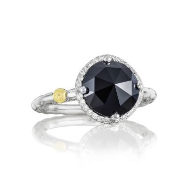 Tacori Sterling Silver Gemma Bloom Diamond and Gemstone Women's Ring