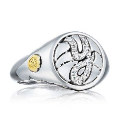 Tacori Sterling Silver Love Letters Diamond Women's Ring