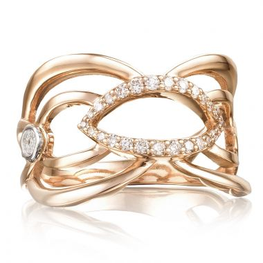 Tacori 18k Rose Gold The Ivy Lane Diamond Women's Ring