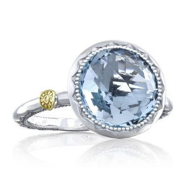 Tacori Sterling Silver Crescent Embrace Gemstone Women's Ring