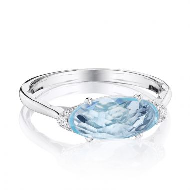 Tacori Sterling Silver Horizon Shine Diamond and Gemstone Women's Ring