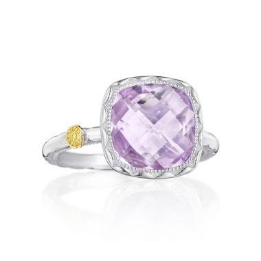 Tacori Sterling Silver Crescent Embrace Gemstone Women's Ring