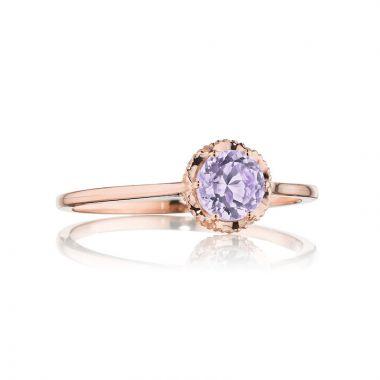 Tacori 14k Rose Gold Crescent Crown Gemstone Women's Ring