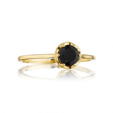 Tacori 14k Yellow Gold Crescent Crown Gemstone Women's Ring