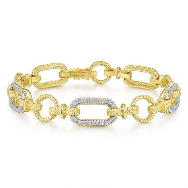 Gabriel & Co. 14k Two Tone Gold Hampton Diamond Tennis Bracelet